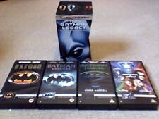 THE BATMAN LEGACY 4-TAPE VHS VIDEO BOX SET 1999 Nicholson Keaton Kilmer Clooney