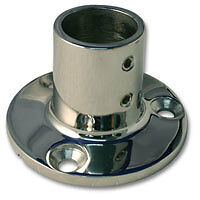 """316 Stainless Steel Highly Polished Rail / Stanchion Round Base 25mm 1""""inch"""
