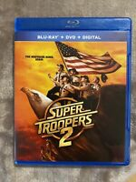 EXCELLENT CONDITION—Super Troopers 2 [Blu-ray+Dvd+DIGITAL] Free Shipping