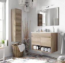 Mobile moderno da bagno con specchiera, finitura Nordik