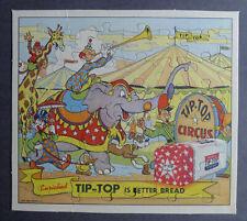 1940's Ward's Tip Top Bread Circus Puzzle with originale enveloppe