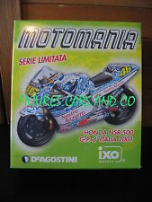 MOTO GP 1/24  HONDA NSR 500 VALENTINO ROSSI 2001 ITALIA MUGELLO  MOTOMANIA