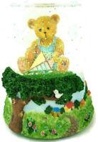 Enesco Musical Snowglobe Cherished Teddies Waterglobe Priscilla Hillman 1998 VTG