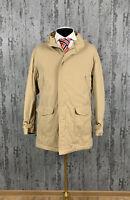 Men`s Burberry London Nova Check Beige Winter Coat Jacket Size 52