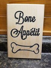 Wooden Dog Bone Plaque