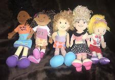 Groovy Girls Dolls Plush Rug Toys Cloth Lot Of 5 Manhattan Toy Company *2*