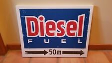 """24"""" x 32"""" wood framed stretched Canvas Diesel fuel sign man cave"""