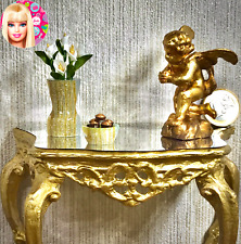 Dollhouse miniature cherub angel sculpture, vase and bowl - 1:6 Barbie scale