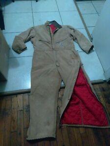 Carhartt 968QZ Quilt Insulated Coveralls Work Suit Men's 48 Short w/ Fur Hood