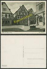 Lohr am Main Rathaus Fachwerkhäuser Cafe Salzmannn Bäckerei Gutbrod Imhof 1936