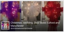 christmas wedding door bows with lights