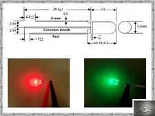 10 Of 5mm Super Bicolor Green Amp Red Led N500tglr2d T1 34 Diffused Common Anode