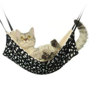 Pet Dog Cat Rabbit Hammock Leopard Fur Animal Hanging Bed Double-sided Lounge