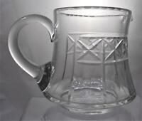 Victorian Edwardian c1900 Cut Glass Lemonade Milk Water Jug Christmas Present