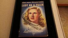 Vintage PB Lady on a Train by Leslie Charteris Shaw Press 1945 Deanna Durbin VG