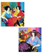 "Patricia Govezensky ""Noa + Models Talking"" Set of two Serigraphs Figurative Art"