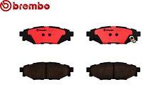 Fits: Impreza Brz Forester WRX Legacy Rear Ceramic Slotted Brake Pads Set BREMBO