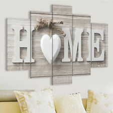 5 Panels Love HOME Art Print Pictures Canvas Painting Wall Home Decor Unframed