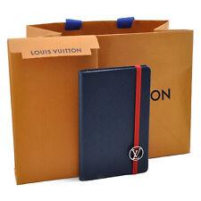 LOUIS VUITTON Cuir Epi Notebook Navy LV Auth 9712