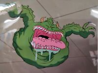 80s Real Ghostbusters EVIL SLIMER ANIMATION CEL & Hand Painted Background + COA