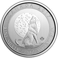 2$ 2017 Loup et la Lune Canada 3/4 once argent .9999 ounce oz silver wolf moon