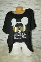 Italy New Collection Big Oversized Mickey Mouse Gr. 38 40 42 44 blogger schwarz