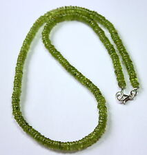 Peridot Necklace Precious Stone Flat Tires Green Olivine NEW