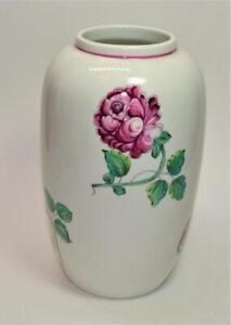 "TIFFANY & Co Porcelain STRASBOURG FLOWERS 7 1/2""h Vase made in Portugal"