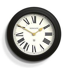 Large Classic Black Newgate Chocolate Shop Wall Clock Roman Numerals 50cm