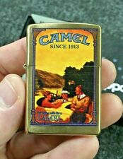 Brass Camel Since 1913 Vintage Car Ad Zippo Rare Sealed J 15