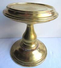Support de lampe à pétrole, réhausseur en laiton doré, Napoléon III