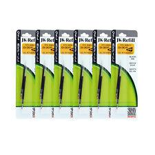 12 Zebra JK-Refll G301 Retractable Ballpoint Pen Refills 0.7 Med. Black Gel Ink