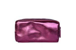 Bare Minerals Escentuals METALLIC PINK Makeup Bag Cosmetic Case Sparkle NeW