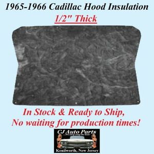 """REM 1965-1966 CADILLAC HOOD INSULATION PAD - 1/2"""" THICK - IN STOCK"""