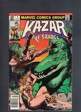 Ka Zar The Savage #4 July 1981 Marvel High Grade