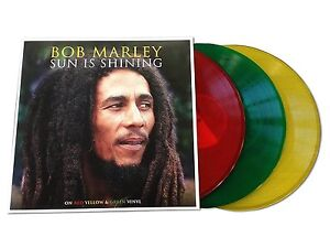 BOB MARLEY SUN IS SHINING - 3 LP GATEFOLD RED, YELLOW & GREEN VINYL
