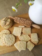 Mandala Engraved Rolling Pin Wooden Embossed Dough Springerle Cookies Oma Marta