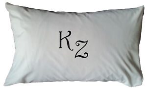 Personalised embroidered white cushion cover- gift, present, initials