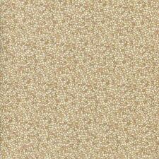 MIRAGE MOSAIC IVORY TAN W METALLIC GOLD Cotton Fabric BTY Quilting Craft Etc