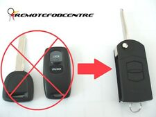 2 BUTTON FLIP KEY CASE UPGRADE FOR MAZDA 2 3 6 323 626 REMOTE KEY FOB