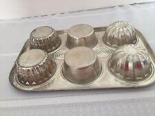 Vintage Muffin Pan - Mini Bundt Flan Aluminum Pan - Very UNIQUE!