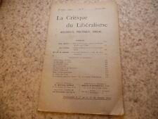 1909.La critique du libéralisme.N°17.Barbier