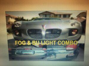 🇺🇸🇺🇸🇺🇸Pontiac Solstice Honeycomb Backup & Fog Light Covers Combo !!!