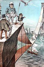 Brooklyn Bridge Construction 1881 NEVER ENDING JOB Builders Need More Steel Puck