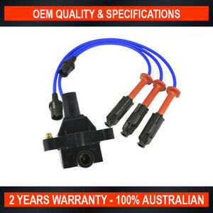 Swan Ignition Coil Pack & NGK Lead Kit for Ssangyong Korando, Musso, Rexton