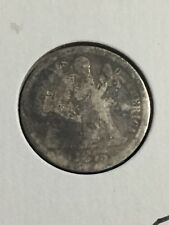 1875-P Silver Seated Liberty Dime about Fair Condition