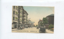 circa 1915 Berkeley CA postcard, South from Sather Gate