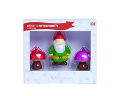 DCI Pop Christmas Gnome Glass Ornaments, Set of 3 ******CLEARANCE Item