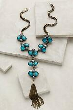 Nwt Anthropologie Vinifera Necklace New Statement Teal Green