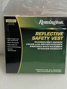 Remington Reflective Safety Vest for Dogs - Orange Medium - (Dogs 18 To 50 lbs)